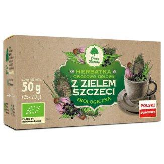 Dary Natury Herbatka owocowo-ziołowa z zielem szczeci, ekologiczna, 2 g x 25 saszetek - zdjęcie produktu