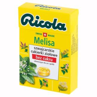 Ricola Melisa, szwajcarskie cukierki ziołowe, bez cukru, 27,5 g - zdjęcie produktu