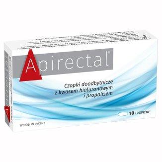 Apirectal, czopki doodbytnicze propolisowe, 10 sztuk - zdjęcie produktu