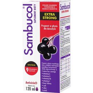 Sambucol Extra Strong, płyn dla dorosłych, 120 ml - zdjęcie produktu