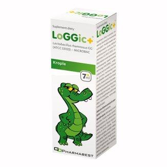Pharmabest LoGGic +, krople doustne, od urodzenia, 7 ml KRÓTKA DATA - zdjęcie produktu