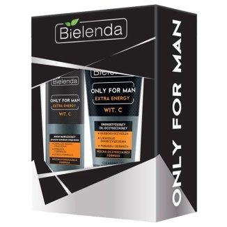 Bielenda Only For Man Extra Energy, krem nawilżający do twarzy, 50 ml + żel do mycia twarzy, 150 ml - zdjęcie produktu