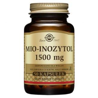 Solgar Mio-Inozytol 1500 mg, 50 kapsułek - zdjęcie produktu