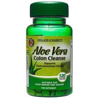 Holland & Barrett, Aloe Vera Oczyszczanie Jelit, 120 tabletek - zdjęcie produktu