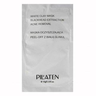 Pilaten, oczyszczająca maseczka peel-off z białą glinką, 10 g - zdjęcie produktu