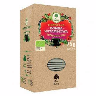 Dary Natury Bomba witaminowa, herbatka ekologiczna, 3 g x 25 saszetek - zdjęcie produktu