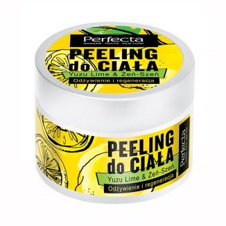 DAX Perfecta, peeling do ciała, yuzu lime & żeń-szeń, odżywienie i regeneracja, 225 g - zdjęcie produktu