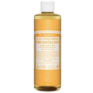 Dr Bronners, mydło w płynie 18w1, cytrus i pomarańcza, 475 ml - zdjęcie produktu