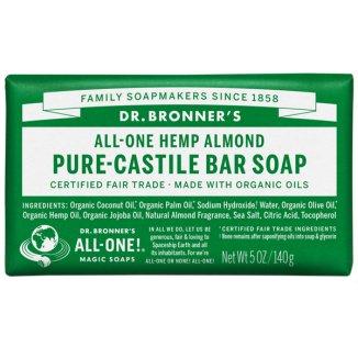 Dr Bronners, mydło w kostce, migdał, 140 g - zdjęcie produktu