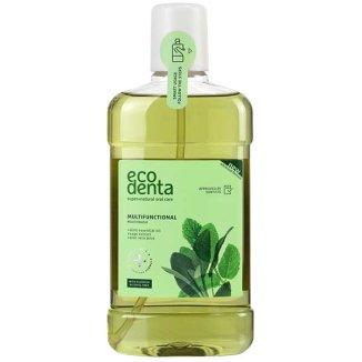 Ecodenta, wielofunkcyjny płyn do płukania jamy ustnej z wyciągiem szałwii, aloesu i olejkiem miętowym, 500 ml - zdjęcie produktu
