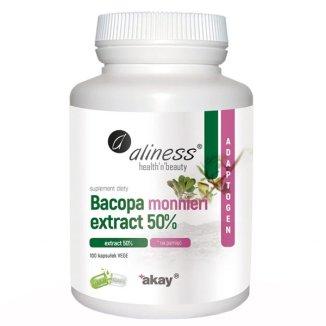 Aliness Bacopa monnieri Extract 50%, 100 kapsułek vege - zdjęcie produktu