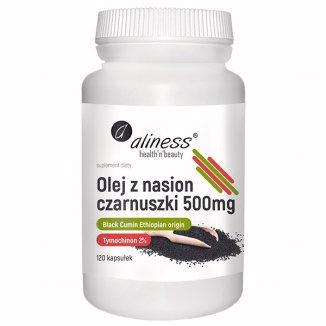 Aliness Olej z nasion czarnuszki 500 mg, 120 kapsułek - zdjęcie produktu