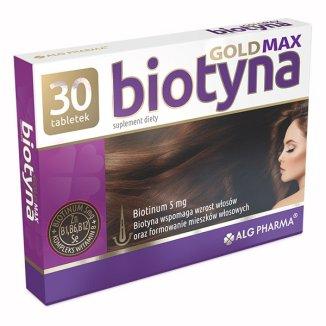 Biotyna Gold Max, biotyna 5 mg, 30 tabletek - zdjęcie produktu