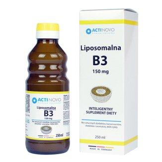 Actinovo, Liposomalna Witamina B3, bez alkoholu, 250 ml - zdjęcie produktu