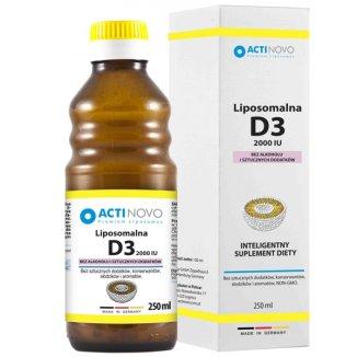 Actinovo, Liposomalna Witamina D3 2000 IU, bez alkoholu, 250 ml - zdjęcie produktu