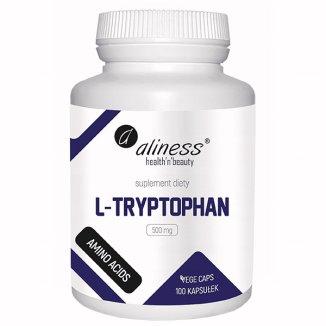 Aliness L-Tryptophan 500 mg, 100 kapsułek vege - zdjęcie produktu