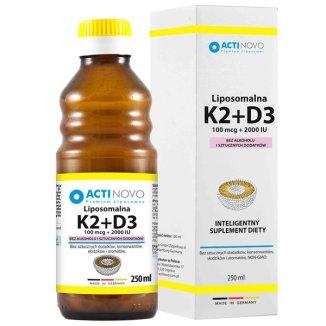 Actinovo, Liposomalna Witamina K2 + D3, 100 mcg + 2000 IU, 250 ml - zdjęcie produktu