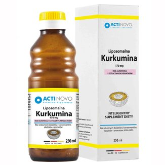 Actinovo, Liposomalna Kurkumina, 170 mg, 250 ml - zdjęcie produktu