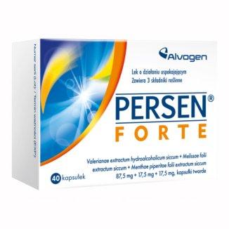 Persen forte 87,5 mg + 17,5 mg + 17,5 mg, 40 kapsułek - zdjęcie produktu