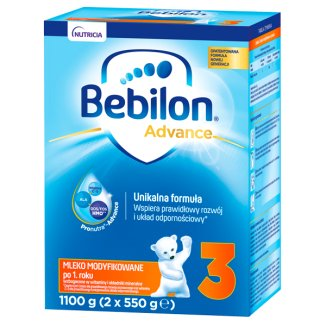 Bebilon Advance 3, mleko modyfikowane, po 1 roku, 1100 g - zdjęcie produktu