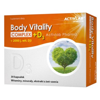 Activlab Pharma Body Vitality Complex + D3 2000  j.m., 30 kapsułek - zdjęcie produktu