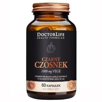 Doctor Life, Czarny Czosnek Fermentowany 500 mg, 60 kapsułek - zdjęcie produktu