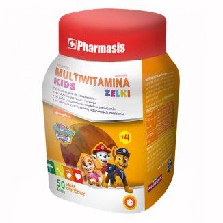 Pharmasis Multiwitamina Kids, żelki dla dzieci powyżej 4 roku, smak owocowy, 50 sztuk - zdjęcie produktu