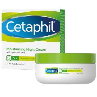 Cetaphil, krem nawilżający do twarzy z kwasem hialuronowym, na noc, 48 ml - zdjęcie produktu