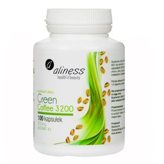 Aliness Green Coffee 3200, 100 kapsułek - zdjęcie produktu