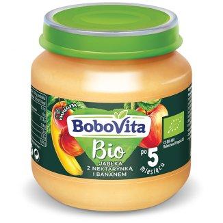 BoboVita, Deser Bio, jabłko nektarynka i banan po 5 miesiącu, 125 g - zdjęcie produktu