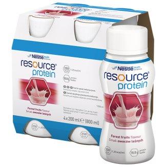 Resource Protein, preparat odżywczy, smak owoce leśne, 4 x 200 ml - zdjęcie produktu