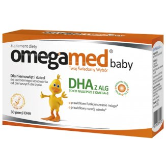 Omegamed Baby DHA, od urodzenia, 30 kapsułek twist-off - zdjęcie produktu