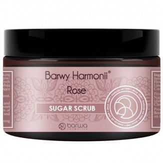Barwa Barwy Harmonii, peeling cukrowy Rose, 250 ml - zdjęcie produktu