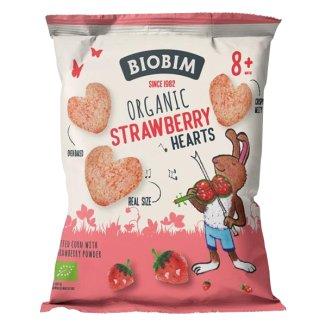 Biobim Chrupki kukurydziane z truskawką Bio, po 8 miesiącu, 20 g - zdjęcie produktu