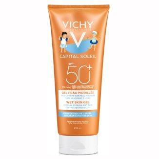 Vichy Capital Soleil Wet Skin, żel dla dzieci SPF50+, 200 ml - zdjęcie produktu