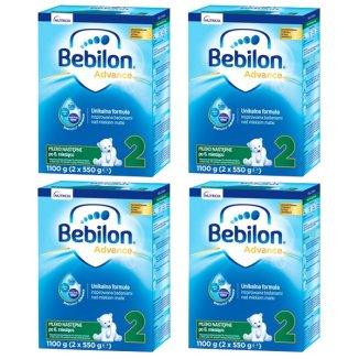 Zestaw Bebilon Advance 2, mleko następne, po 6 miesiącu, 4 x 1100 g - zdjęcie produktu