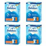 Zestaw Bebilon Advance 3, mleko modyfikowane, po 1 roku, 4 x 1100 g - miniaturka zdjęcia produktu