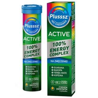 Plusssz Active 100% Energy Complex, 20 tabletek musujących - zdjęcie produktu