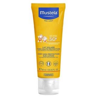 Mustela Sun, mleczko przeciwsłoneczne do twarzy, SPF50 +, 40 ml - zdjęcie produktu