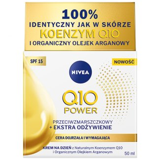 Nivea Q10 Power, przeciwzmarszczkowy krem na dzień, z olejkiem arganowym, SPF15, 50 ml - zdjęcie produktu