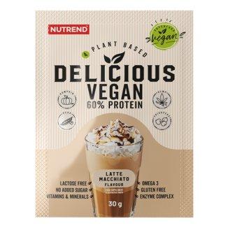 Nutrend, Delicious Vegan Protein, smak latte macchiato, 30 g - zdjęcie produktu