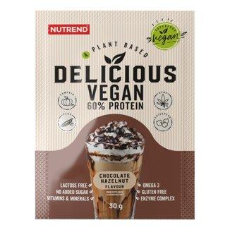 Nutrend, Delicious Vegan Protein, smak czekolada + orzech laskowy, 30 g - zdjęcie produktu