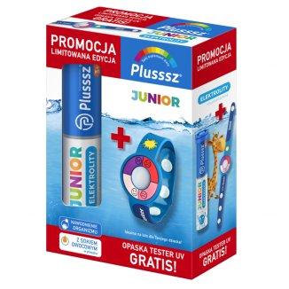Plusssz Junior Elektrolity + Multiwitamina, 20 tabletek musujących + Opaska Tester UV gratis - zdjęcie produktu