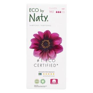 Eco By Naty, tampony higieniczne, z aplikatorem, Super, 14 sztuk - zdjęcie produktu