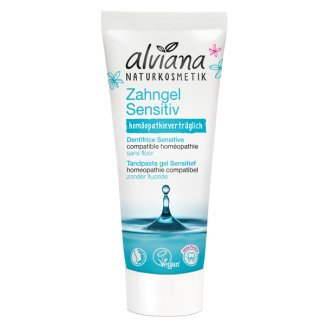 Alviana, ekologiczny żel do zębów sensitive z solą morską i nagietkiem BIO, bez fluoru 75 ml - zdjęcie produktu