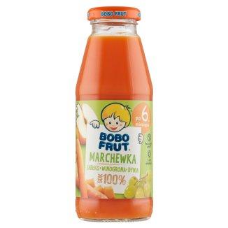 Bobo Frut, sok 100%, marchew, jabłko, winogrono, dynia, po 6 miesiącu, 300 ml - zdjęcie produktu