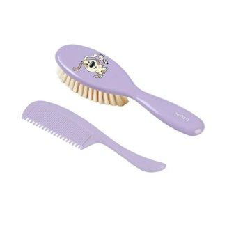 BabyOno, szczoteczka z miękkim włosiem + grzebyk, 567/ 02, lawendowy, 1 komplet - zdjęcie produktu