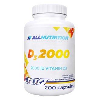 Allnutrition, witamina D3 2000, 200 kapsułek - zdjęcie produktu