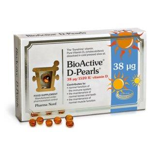 BioActive D-Pearls, witamina D3 38 µg, 80 kapsułek - zdjęcie produktu