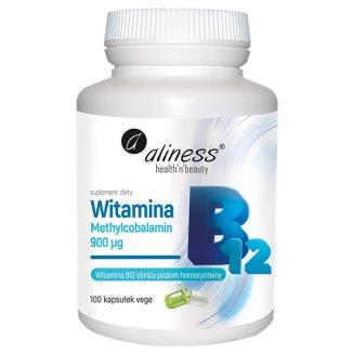 Aliness Witamina B12 Methylcobalamin 900 µg, 100 kapsułek vege - zdjęcie produktu